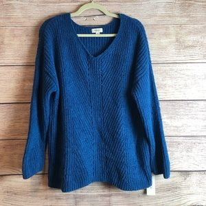 NWT Style & Co blue pullover sweater medium L12